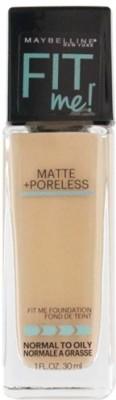 MAYBELLINE NEW YORK Fit Me Matte Plus Poreless Foundation Warm Nude, 30 ml