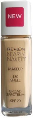 Revlon Nearly Naked Make Up Spf-20 130 Foundation, Shell, 30 ml
