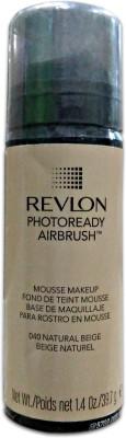 Revlon Photoready Airbrush Mousse Foundation, Natural Beige-040, 39.7 G