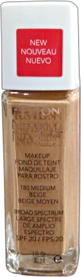 Revlon Nearly Naked Foundation, Medium Beige-180, 30 ml