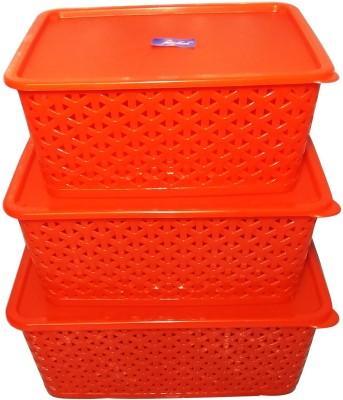 Fair Food BASKETS PP (Polypropylene) Fruit & Vegetable Basket(Red) at flipkart