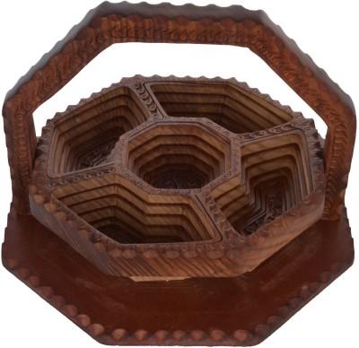 Ventezone Wood Fruit & Vegetable Basket(Brown) at flipkart