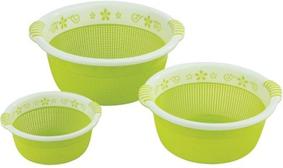 Sukhson India Plastic Fruit & Vegetable Basket(Green) at flipkart