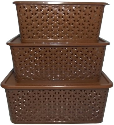 99DailyDeals PP (Polypropylene) Fruit & Vegetable Basket(Brown) at flipkart