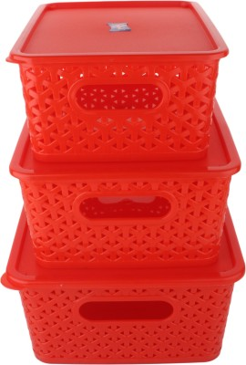 Fair Food Polypropylene Fruit & Vegetable Basket(Red) at flipkart