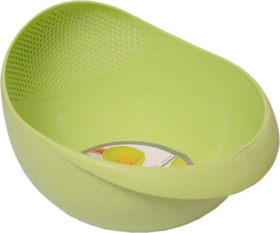 Leo's Plastic Fruit & Vegetable Basket(Green) at flipkart