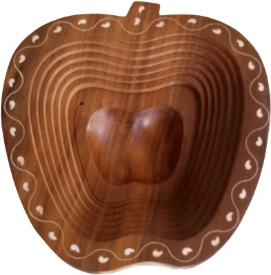 The Woods Hut Wooden Fruit & Vegetable Basket(Brown) at flipkart