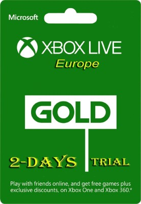Xbox Live Gold 2 Days Trial Code (EU Account Only ) for Xbox One( )  available at flipkart for Rs.93