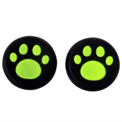 TCOS Tech Thumb Grips Anti Slip Silicone Cap Cover  Gaming Accessory Kit(Green, For PS4, PS3, Xbox 360, Xbox One)  available at flipkart for Rs.199