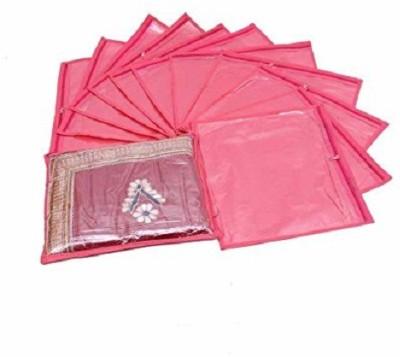 KUBER INDUSTRIES Designer Single Packing Saree Cover 12 pcs set  Pink  sc007 Pink KUBER INDUSTRIES Garment Covers