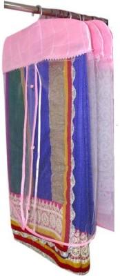 Addyz Plain Pack Of 3 Net Saree Cover Wardrobe Organize Pink Addyz Garment Covers