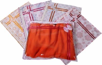 Indi Bargain Designer Multi color set of 5 single saree cover Multicolor Indi Bargain Garment Covers