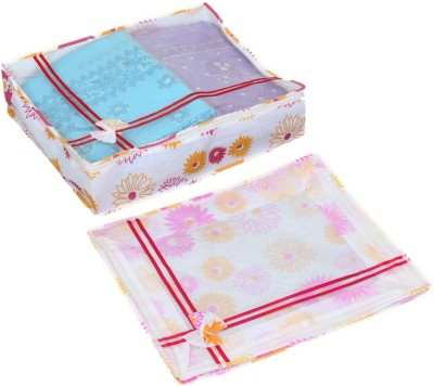 KUBER INDUSTRIES Designer Non Woven Bow Saree Cover/ Lahenga Cover Set Of 2 Pcs  6 Inches Height  KUBS61 Yellow KUBER INDUSTRIES Garment Covers