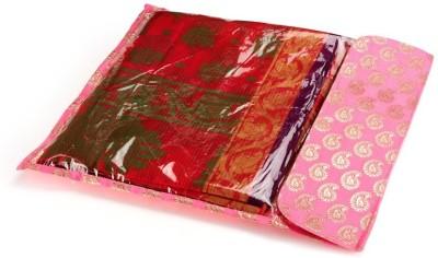 KUBER INDUSTRIES Saree Cover 5 Pcs In Brocade Mku187 Golden KUBER INDUSTRIES Garment Covers
