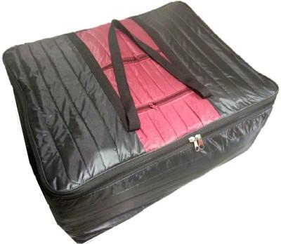 Addyz Plain Quilt blankets bedsheets cover storage Multipurpose bags1200 Black, Maroon Addyz Garment Covers