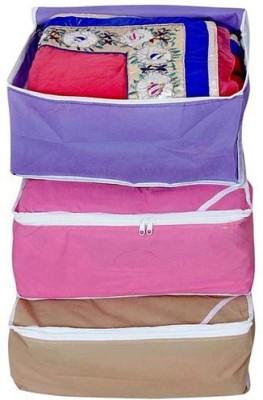 Fashion Bizz Regular Multi Saree Cover 3 IN 1 COMBO Multicolor Fashion Bizz Garment Covers