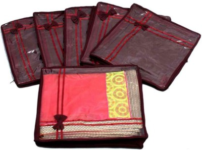 Kuber Industries Designer Saree Cover Non Wooven Material 6 Pcs Set MKUSC145 Maroon