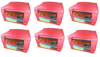 Abhinidi Non Woven Multipurpose Saree Cover 6PC Capacity10 15 Units Each Red Abhinidi Garment Covers