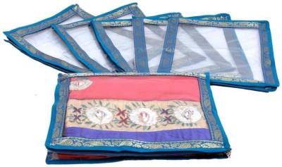 KUBER INDUSTRIES Designer Saree Cover 6 Pcs Set MKUSC108 Blue KUBER INDUSTRIES Garment Covers