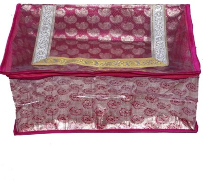 KUBER INDUSTRIES Designer Saree Cover In Pink Designer Brocade MKU0050088 Pink KUBER INDUSTRIES Garment Covers