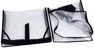 KUBER INDUSTRIES Designer Shirt, Trouser Cover In Full Transparent Net 2 Pcs Set MKU0050083 Blue KUBER INDUSTRIES Garment Covers