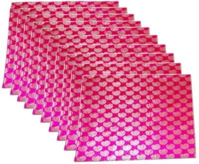 KUBER INDUSTRIES Saree Cover 10 Pcs In Brocade Mku184 Pink KUBER INDUSTRIES Garment Covers