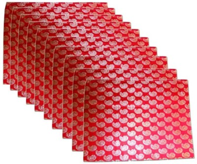 KUBER INDUSTRIES Saree Cover 10 Pcs In Brocade Mku183 Red KUBER INDUSTRIES Garment Covers