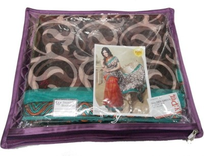 KUBER INDUSTRIES Saree Covers Satin MKU167 Purple KUBER INDUSTRIES Garment Covers