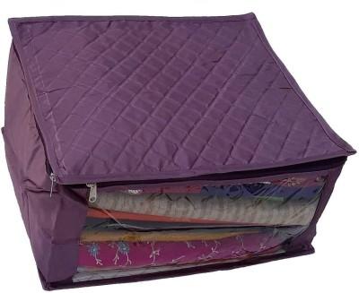 Indi Bargain Purple Saree Cover Three Layered Wedding Purple Indi Bargain Garment Covers