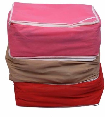 Fashion Bizz Regular Multi Saree Cover 3 Pc Combo Multicolor Fashion Bizz Garment Covers