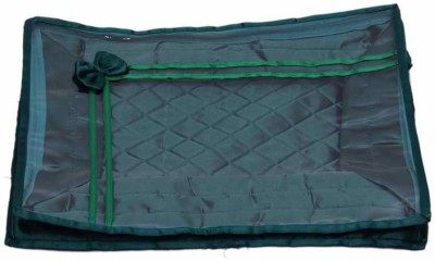 KUBER INDUSTRIES Designer Saree Cover in Satin MKU73043 Green KUBER INDUSTRIES Garment Covers