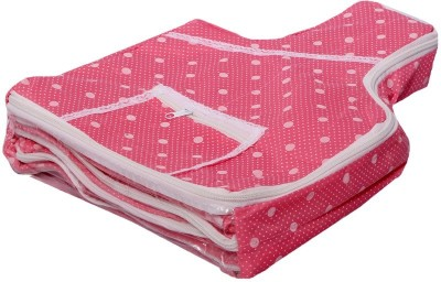 KUBER INDUSTRIES Designer Blouse Cover in Polka Dots  Pink  MKU006670 Pink KUBER INDUSTRIES Garment Covers