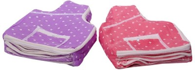 KUBER INDUSTRIES Designer Blouse Cover in Polka Dots Set of 2 Pcs MKU006671 Multicolor KUBER INDUSTRIES Garment Covers