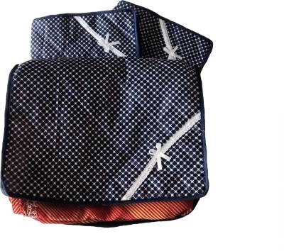 INDI BARGAIN Printed Combo of 3 Transparent Multi Saree Cover Blue INDI BARGAIN Garment Covers