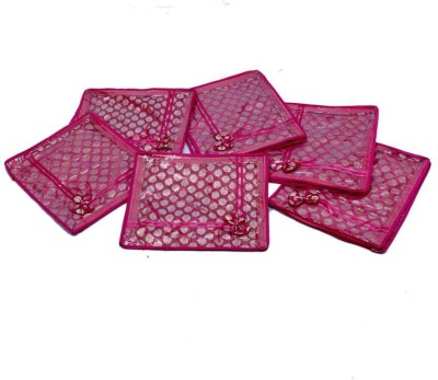 KUBER INDUSTRIES Designer Saree Cover 6 Pcs combo In Pink Brocade SC20 Pink KUBER INDUSTRIES Garment Covers