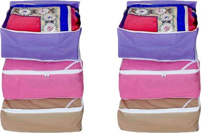 Ombags   More Saree Cover Combo Of 6 mh01 Multicolor