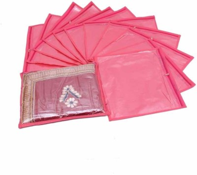 Ombags   More single saree cover combo of 12 bags more012 Pink Ombags   More Garment Covers