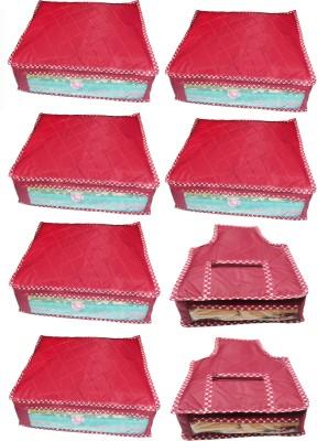 atorakushon Parachute Combo of 6PC Saree Cover 2PC Blouse Cover P6S 3b Maroon atorakushon Garment Covers