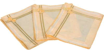 KUBER INDUSTRIES Designer Non Woven Bow Saree Cover/ Lahenga Cover Set Of 3 Pcs  6 Inches Height  KUBS50 Yellow KUBER INDUSTRIES Garment Covers