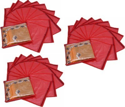 KUBER INDUSTRIES Designer Single Packing Saree Cover 36 Pcs Combo MKUSCR101 Red KUBER INDUSTRIES Garment Covers