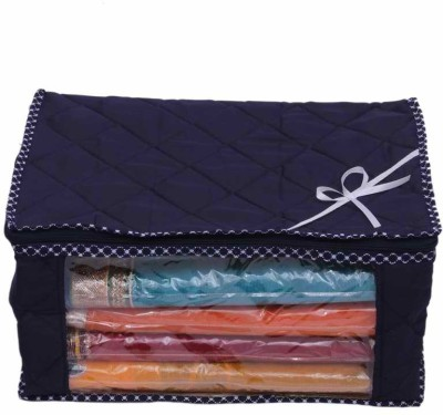 Kuber Industries Designer Saree Cover With Capacity of 15 Sarees MKU73042(Blue)  available at flipkart for Rs.229