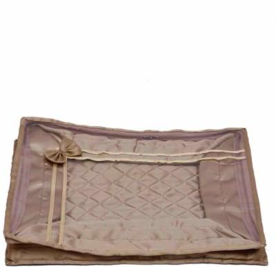 KUBER INDUSTRIES Designer Saree Cover in Satin MKU044 Gold KUBER INDUSTRIES Garment Covers