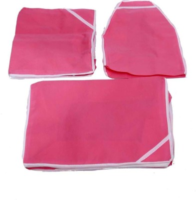 KUBER INDUSTRIES Designer Saree, Blouse   Peticot Cover 3 Pcs Combo SC78 Pink KUBER INDUSTRIES Garment Covers