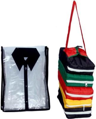 KUBER INDUSTRIES Designer Shirt Cover   Shoe bag  2 Pcs set  MKU5095 Multicolor KUBER INDUSTRIES Garment Covers
