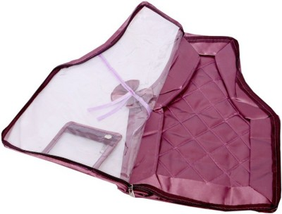 KUBER INDUSTRIES Designer Kuber Industries Blouse Cover in Quilted Satin Fabric Set of 2 Pcs MKU00006657 Multicolor KUBER INDUSTRIES Garment Covers