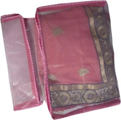 Fashion Bizz Desiner Multi Saree Cover 2pcs Combo SP TN2 Pink Fashion Bizz Garment Covers