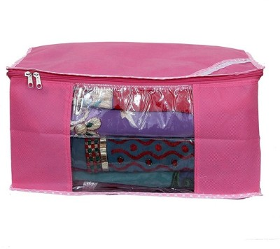 KUBER INDUSTRIES Saree Covers Non Wooven AA5 Pink KUBER INDUSTRIES Garment Covers