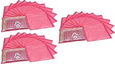 KUBER INDUSTRIES Designer Single Packing Saree Cover 36 Pcs Set sc003 Pink KUBER INDUSTRIES Garment Covers