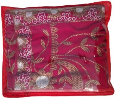 KUBER INDUSTRIES Designer Non Wooven Saree Cover Of 12 Pcs Combo MKU234 Maroon, Pink, Red KUBER INDUSTRIES Garment Covers