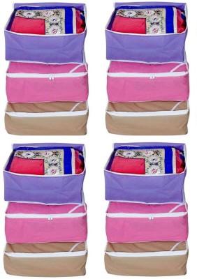 Fashion Bizz Multi Saree Cover 12 Pcs Combo Red, Brown, Purple Fashion Bizz Garment Covers